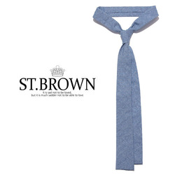 -ST.B- 86683 NEW Green Garage 데님베이직 타이 (Light Blue)
