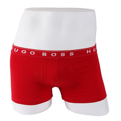 -HUGO BOSS- 87921 Cotton Boxer Shorts Trunk (Cherry)