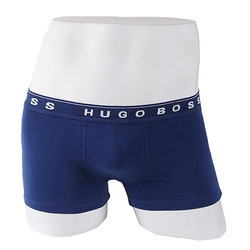 -HUGO BOSS- 87926 Cotton Boxer Shorts Trunk (Blue)