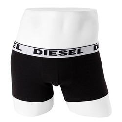 -DIESEL- 89282 Strech Cotton Boxer Trunk (Da Black)