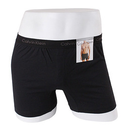 -Calvin Klein- 92094 Knit Cotton Slim Fit Boxer (Black)
