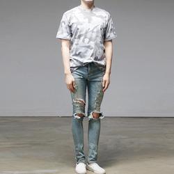 95583 카무플라주 카브라 하프슬리브 티셔츠 (3Color)