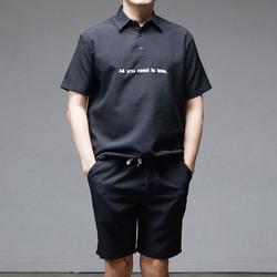 95617 레슬리 밴딩 아노락 셔츠 (Black)