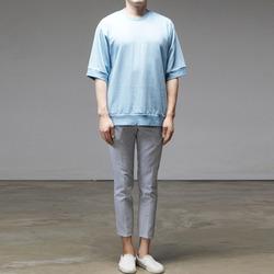 95633 어나더 시보리 하프슬리브 티셔츠 (4Color)