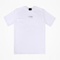 95776 비에스 라인 백프린팅 오버 하프 슬리브 티셔츠 (White)