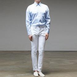 95229 스트라이프 린넨 오버핏 셔츠 (4Color)