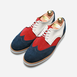 83090 Premium FA-069 Shoes (Navy+Red+White)