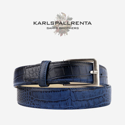 -K.S- 83834 italy real leather 크로커 리얼태닝 클래식 벨트 (Navy)